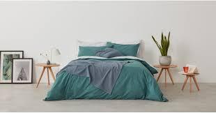 solar solar 100 cotton bed set double teal mint uk