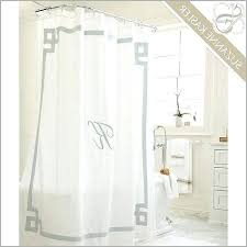 bee shower curtain new best monogrammed curtains images on initial monogram 4