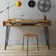Cool Computer Tables With Natural Brown Wooden Desks