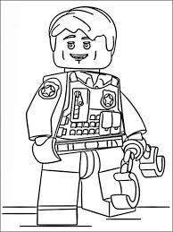 Disegni Da Colorare Per Bambini Lego Polizia 8 Kecebang