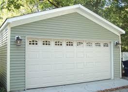 20 foot garage door with raised panel and window