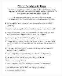 personal essay for scholarship examples sample essay scholarships  personal