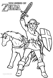 Small Picture Printable Zelda Coloring Pages For Kids In itgodme
