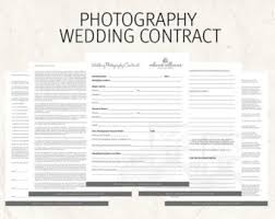Wedding Photography Contract Form Wedding Photography Contract Black Business Forms Floral Etsy