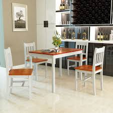 5 Piece Kitchen Dining Table Set 4 Chairs Solid Wood My Tiny Home