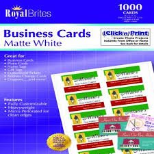 Royal Brites Matte Business Cards White 2 X 3 5 Inches Pack Of