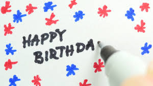 child writing happy birthday on card markers hq bit k 4k happy birthday being write on paper
