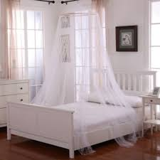 Ava Regency White Canopy Bed