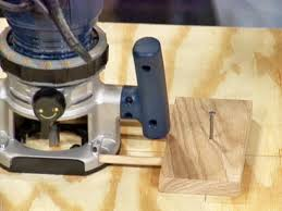 use wood block as pivot point for router
