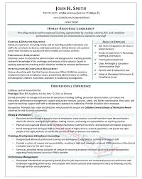 Human Resources Leadership Resume Sample - Page 1