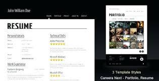 resume web templates resume portfolio template free and premium website templates layouts