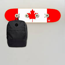 Wall Coat Rack Canada Flag of Canada on wall coat rack for the decoration of a skate room 88