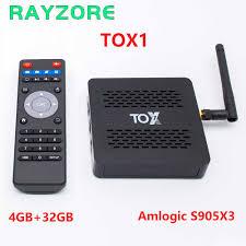 2020 TOX1 Neo Tv Box Amlogic S905X3 Android 9.0 TV Box 4GB 32GB Lưới Truyền  Hình Hộp 2.4G 5G WiFi 4K Bluetooth 1000M TIVI BOX VS X96 Max