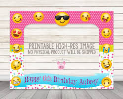 printable emoji birthday party photo booth frame 32 x 42 or custom size emoji