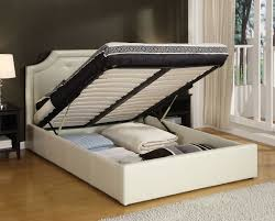 Image of Queen Bed Frame with Storage Drawers for Sale