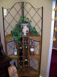 Wrought Iron Living Room Furniture Living Room Wrought Iron Corner Shelves For Bottles Of Wine