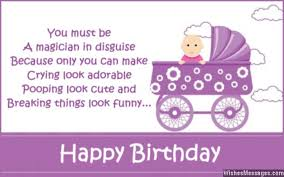 40st Birthday Wishes First Birthday Quotes And Messages New First Birthday Quotes