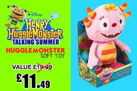 henryhugglemonster talking summer hugglemonster soft toy bit ly 1zdg2uj