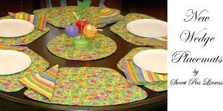 wedge shaped placemat new sweet pea linens items collection of round table for and oval tables