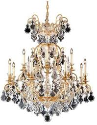 at houzz schonbek versailles 13 light chandelier in french gold with clear heritage crystal