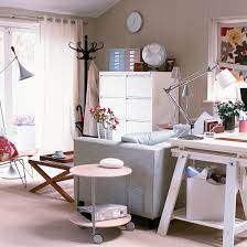 office desk in living room. Garden Office With White Trestle Desk In Living Room L