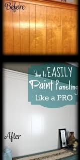 after a lot of research and searching i realized how to easily paint over wood paneling