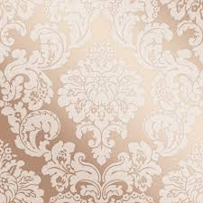 Gold Damask Background Fine Decor Monaco Rose Gold Damask Fd42244