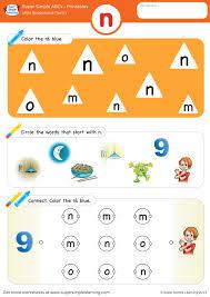 Get free phonics worksheets for kindergarten. Letter Recognition Phonics Worksheet N Lowercase Super Simple