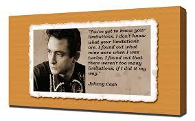 Johnny Cash Quotes 4 Canvas Art Print Amazoncouk Kitchen Home