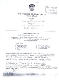 police report photocopy original notes cover sheet regina vs best male 1979 12