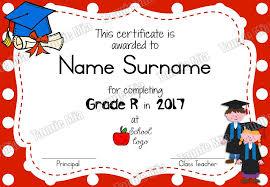 Graduation Certificate Template Word Magnificent Grade R Graduation Certificate Template Teacha