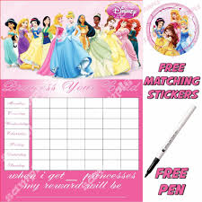 Disney Princess Behavior Chart Potty Training Reward Chart Conclusive Ebay Reward Chart