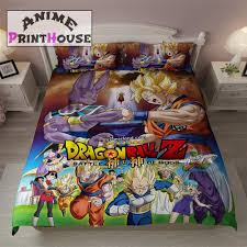 Dragon Ball Z Blanket Bed Sheets Covers Anime Print House