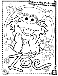 Small Picture Sesame Street Coloring Pages Printable Sesame Street Coloring