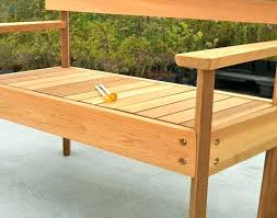 round cedar picnic table plans for free tables kit bench park