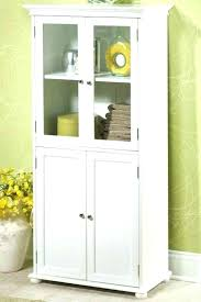 tall bathroom cabinet with glass doors floor cabinet with doors amusing bathroom floor storage cabinets white
