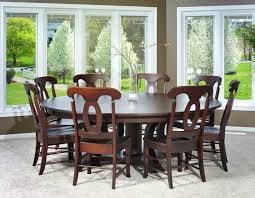 round dining table with leaf extension sets