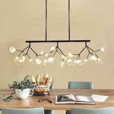 personality heracleum led chandelier black gold multi light 47 24