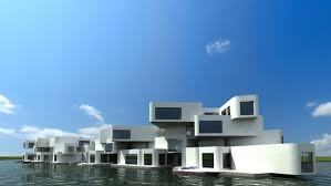 The Citadel Floating Apartment Complex by WaterStudio NL in the  Netherlands. Photo: DesignBoom.
