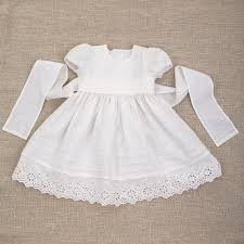 Baby girl baptism linen dress heirloom gown special occasion blessing  christening newborn coming home flower girl dress vintage lace white