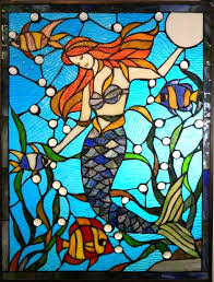 style stained glass mermaid window lglimitlessdesign and