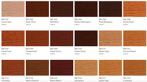 Sherwin Williams Stain Chart Sherwin Williams Gel Stain Colors Coshocton