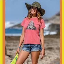 Crazy Shirts Models Crazy Shirts Crazy Shirt Womens S S Mini Tee Hibiscas Dyed 2011417 Yoga Cat Chestnut Van Cat Short Sleeves T Shirt Hawaii Hawaii Cat