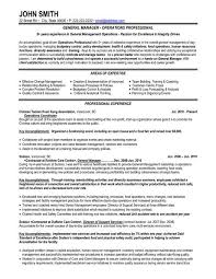 Management Resume Templates Resume And Cover Letter Resume And