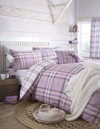 catherine lansfield kelso double duvet set heather co uk kitchen home