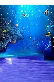 5x7ft Blue Sea Ocean The Underwater World Photographers Digital Studio Vinyl Floor Photography Backdrops Background