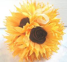 Crepe Paper Flower Balls Sunflower Wedding Hanging Crepe Paper Flower Balls Pomander
