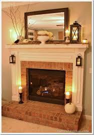 mantel fireplace brickfireplace
