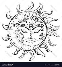Tattoo Sleeping Sun And Moon