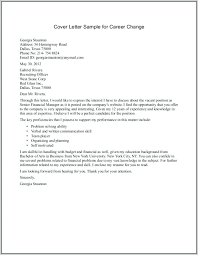 Security Cover Letter Examples Cover Letter Examples Career Change